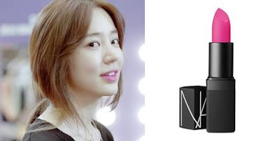 "S.Korean actress, Yoon Eun-hye (윤은혜) in th drama ""I Miss You,"" NARS Semi Matte Pink Lipstick in Schiap."