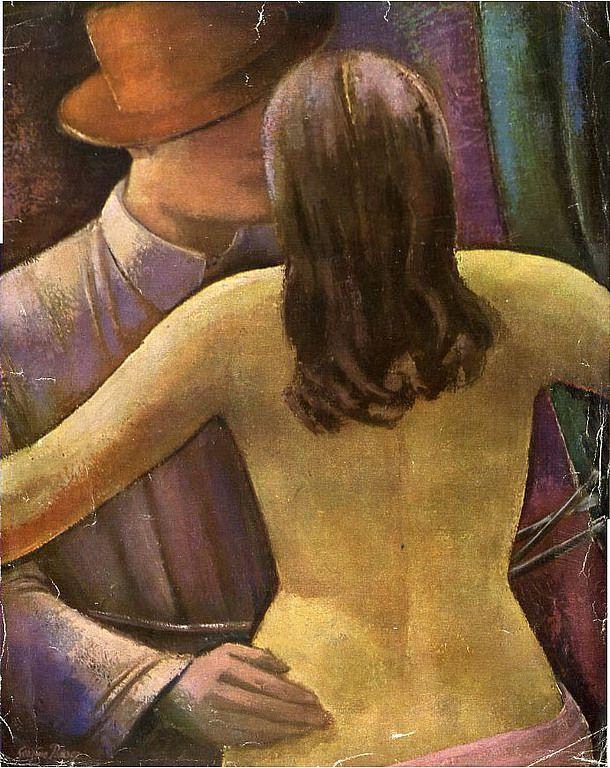 Sergius Pauser - Weib und Maler, 1928, Öl,
