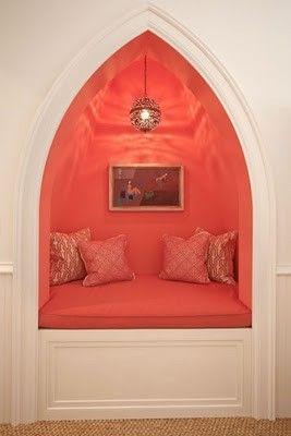 nook!: Cozy Nooks, Spaces, Idea, Colors, Reading Nooks, House, Books Nooks, Reading Spots, Girls Rooms