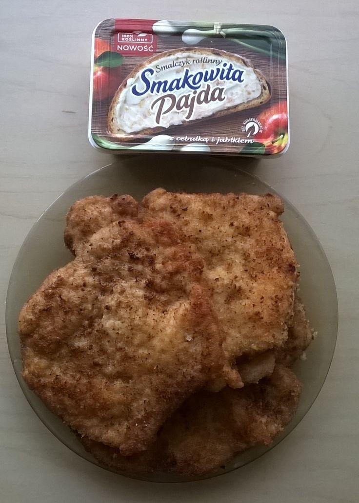 Schaboszczaki usmazone na Smakowitej Pajdzie.Smalczyk roslinny znakomity do smazenia. Nic nie pryska,nie strzela!Cudownie podkresla smak kotletow. #SmakowitaPajda #SmalczykRoślinny #Streetcom