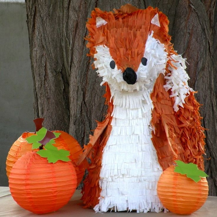 how to make a fox pinata