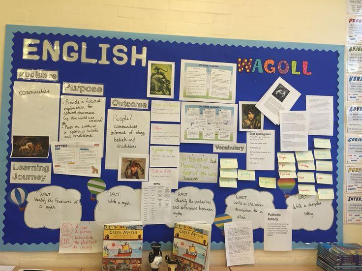 English working wall - myths y6 ( not mine)