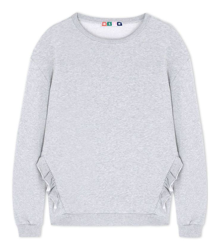 MSGM Ruffle Cotton Sweatshirt