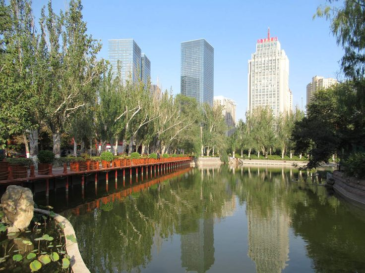 People's Park in downtown Urumqi, Xinjiang, China, is a pleasant place to relax.