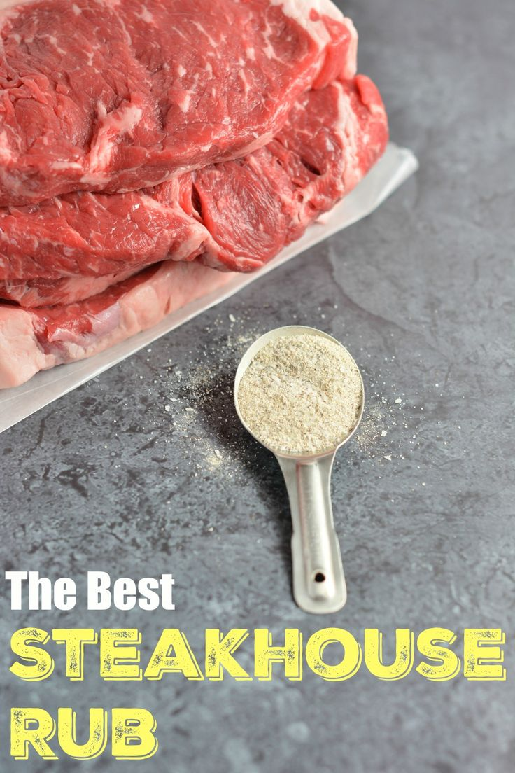 The BEST Steakhouse Steak Rub- 8 simple ingredients that all of the high end steakhouses use on steak, chicken and fish. Make a large batch and keep it in your pantry. This is the only steak seasoning you will ever need.