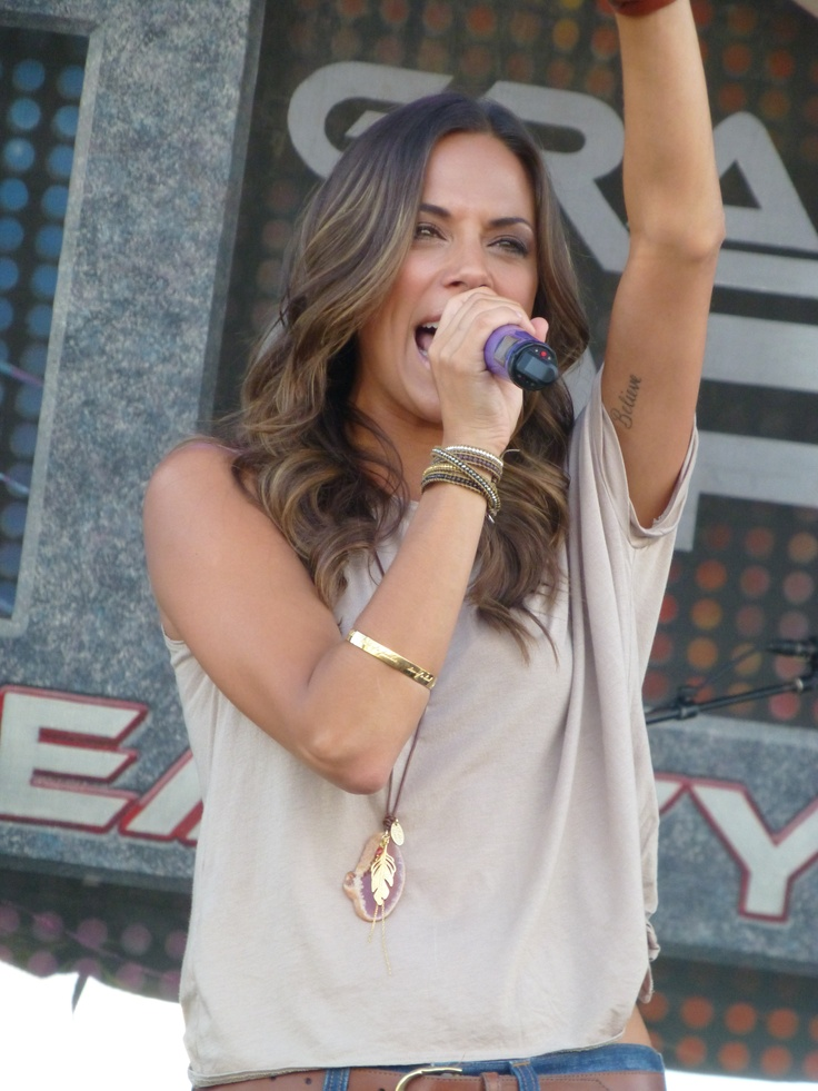 Jana Kramer - my photo at the Brad Paisley concert in Tampa - Sept. 2012