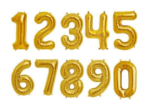 "34"" Giant Gold Number Balloons"