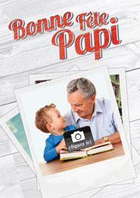 Bonne fête Papi ! Carte papier Fête des grands-pères