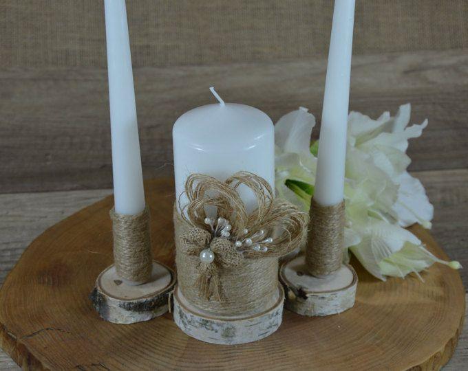 Unidad marfil vela unidad rústica Set velas velas velas de