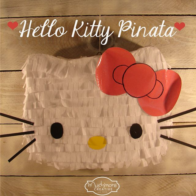 Step by step instructions for making this adorable Hello Kitty pinata. Perfect for birthday parties.