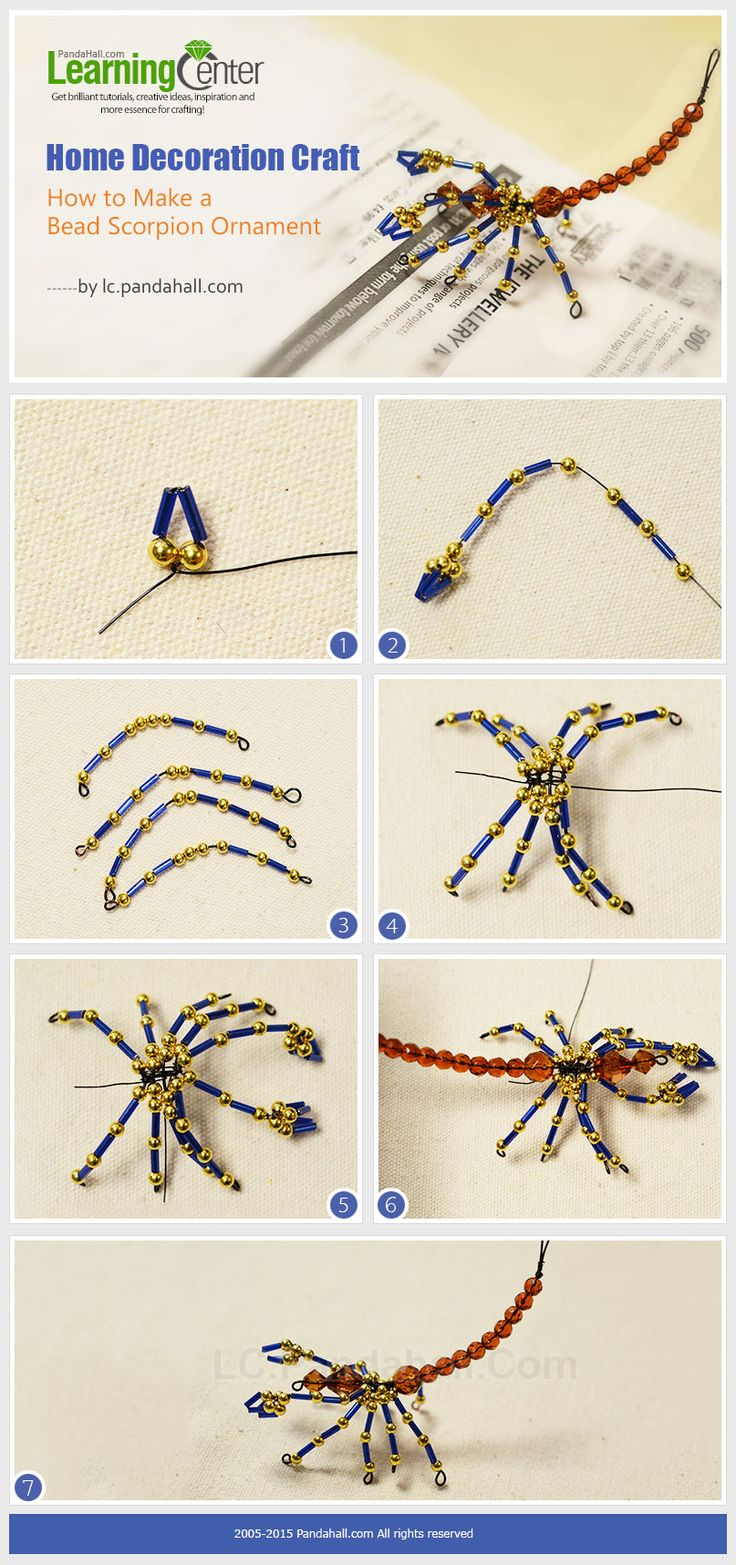 Home decoration craft how to make a bead scorpion for How to make beads craft