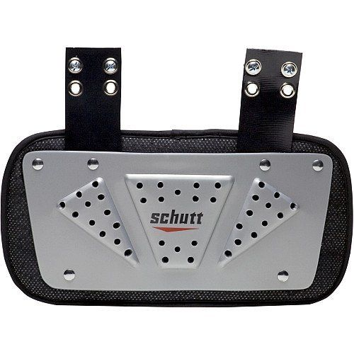 Schutt Varsity Back Plate by Schutt. $17.99. The Schutt® Varsity football back plate fits all models of Schutt® Varsity shoulder pads and offers added protection for the back.