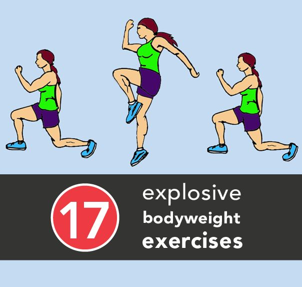17 Explosive Bodyweight Exercises that can help burn FAT!