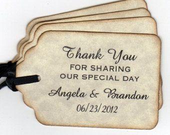 Wedding Favor Tags Ideas : Personalized Wedding Favor Tags Tags / Gift Tags / Shower Favor Tags ...
