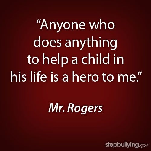 Evidently Mr. Rogers didn't remember that sometimes you do nice things for people and they repay your kindness with spite and hatred........
