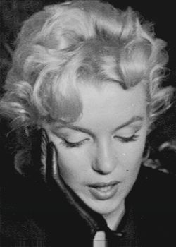 Marilyn during a press conference for Bus Stop, February 25, 1956.