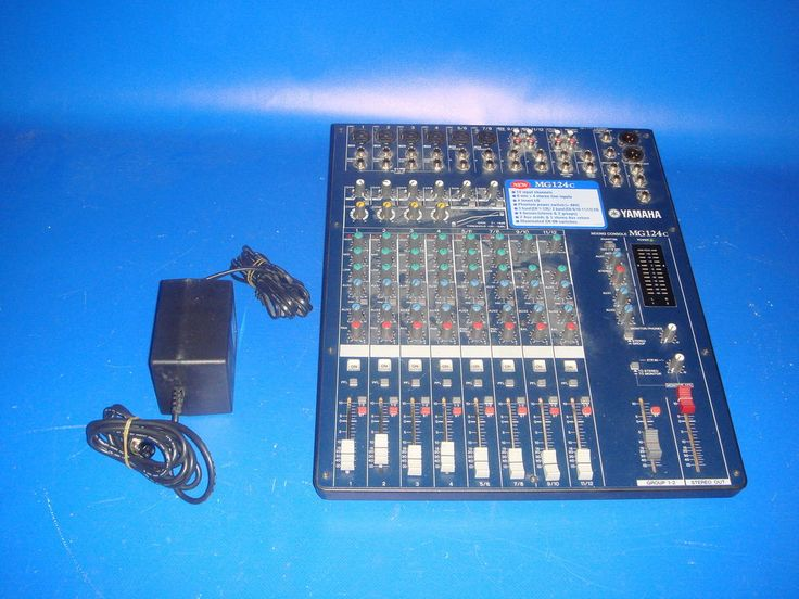 Material de Audio MESA DE MEZCLAS YAMAHA MG 124-buen estado!