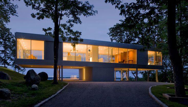 Elegant Glass and Steel Retreat on Shelter Island, New York