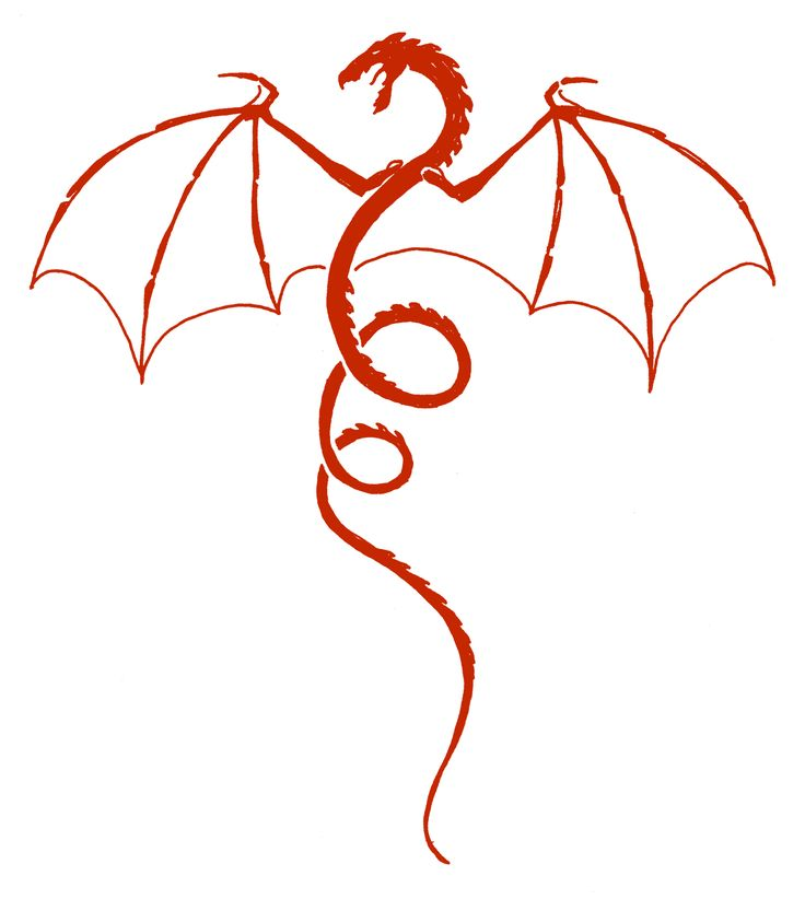 Dragon Heraldry 18 Red