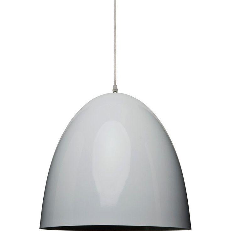 Small White Dome Pendant