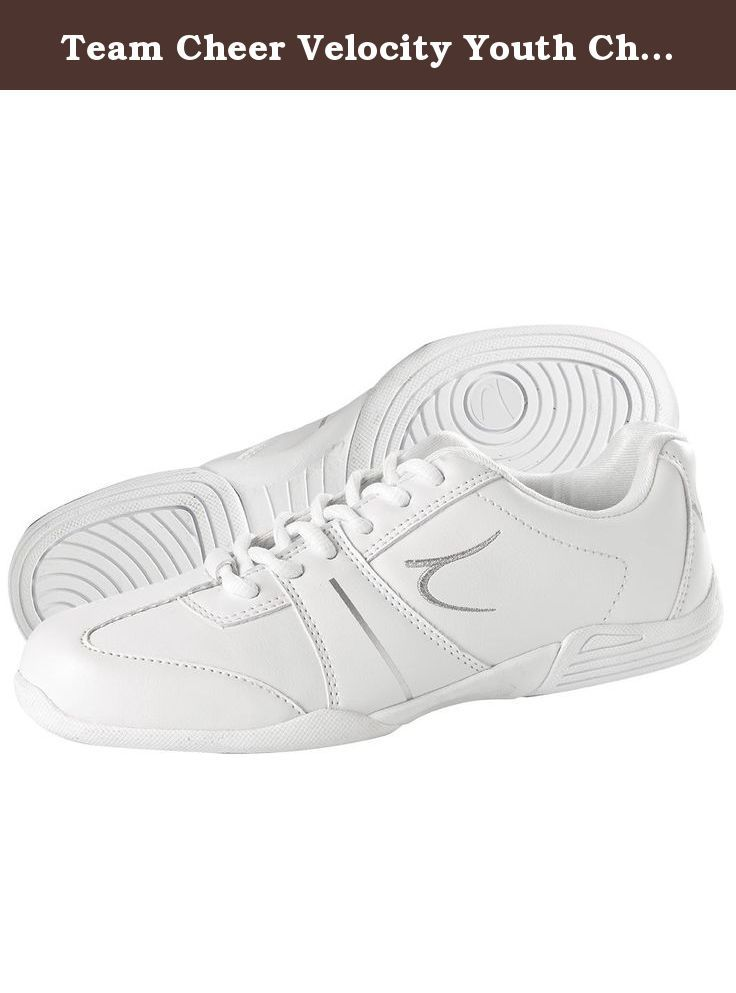Team Cheer Velocity Youth Cheerleading Shoes. The Team Cheer Velocity has a 100% polyurethane upper sole, EVA midsole for comfort and support, increased arch support and a molded rubber outsole for better flexibility on both indoor and outdoor surfaces It is lightweight for ease of movement while stunting, jumping and tumbling. It weighs 5.0 oz.