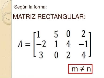 Resultado de imagen para matriz rectangular