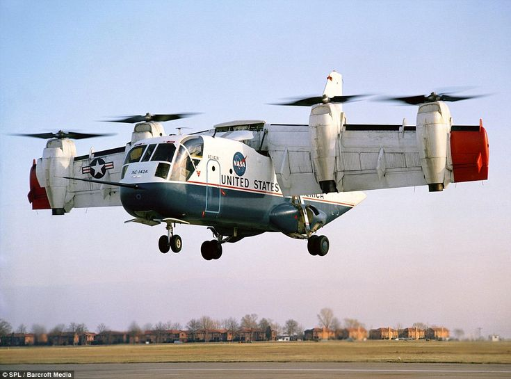 The design didn't take off!: LTV XC-142 tiltwing experimental aircraft. It was built in 1964 for the US army who were interested in a short ...