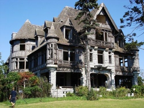 This is what I imagine the burned out shell of the mansion looking like in Miss Peregrine's Home for Peculiar Children. I wonder what they will actually use in the movie.