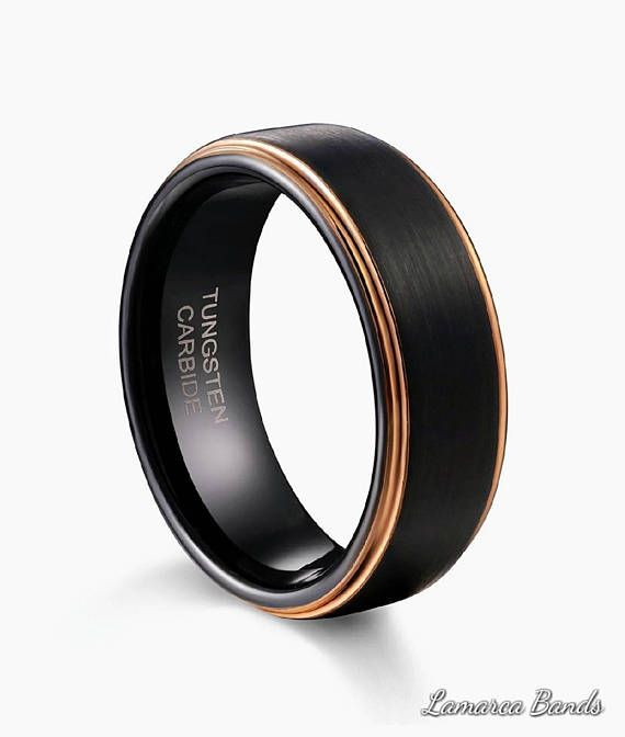 Check out this item in my Etsy shop https://www.etsy.com/listing/575326669/rose-gold-black-wedding-band-mens