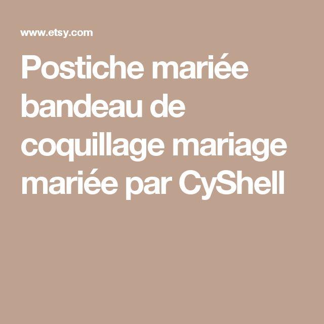 Postiche mariée bandeau de coquillage mariage mariée par CyShell