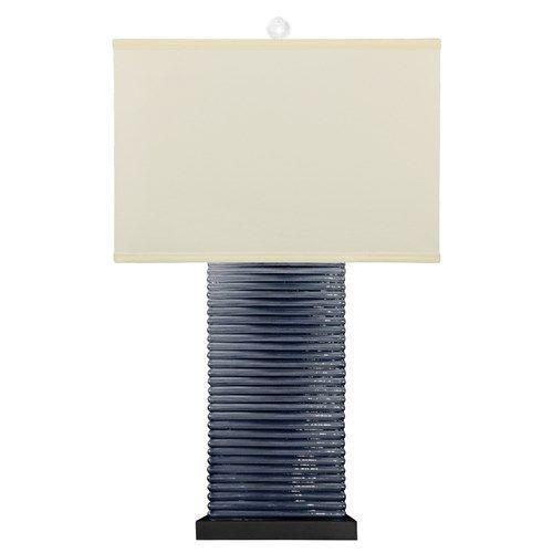 bungalow 5 malibu dark blue table lamp. Black Bedroom Furniture Sets. Home Design Ideas