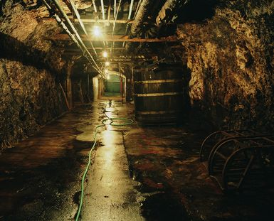 Prohibition in the US: Dark Days for Social Drinkers: Old cave used by brewery to store kegs of beer during prohibition