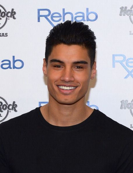 Singer Siva Kaneswaran of The Wanted arrives at the Hard Rock Hotel Casino during the resort's Rehab pool party on April 27 2014 in Las Vegas Nevada