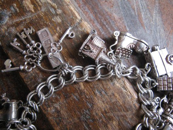 English Sterling Silver Charm Bracelet.