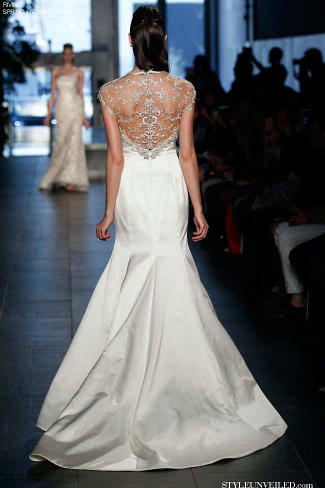 Rivini By Rita Vinieris Wedding Spring/Summer 2014 - Avina / the back of this wedding dress is stunning!!!!