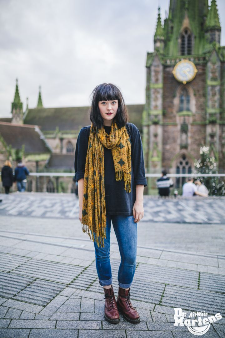 Dr. Martens boots with cuffed skinny jeans | HOW TO WEAR - BIRMINGHAM