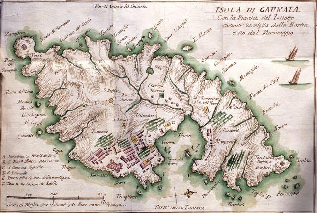 Isola di Capraia - 1768