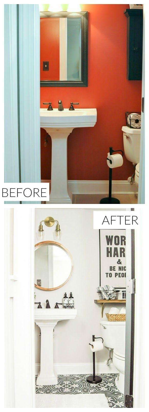 diy shelf ideas for bathroom%0A One Room Challenge Reveal  Gray and White Vintage Modern Bathroom