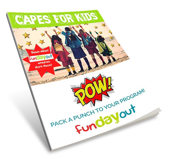 The Kids are going to love these!  For just $12.90 children create their own cape ... think superheroes! Frozen! Harry Potter! check them out at www.fundayout.com.au  Fantastic for OOSH   #vacationcare #oosh #kidsactivities #funforkids