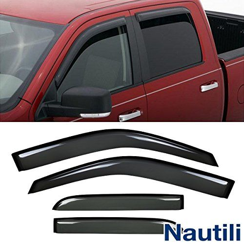 Laprive Auto 4pcs Side Window Deflectors Window Visors for 09-17 Ram 1500/2500/3500 Crew Cab Sun/Rain Guard Vent Visor (DO NOT FIT QUAD CAB) - Item-offered: 4pcs vent shade window visors with 3M Double-Sided Tapes (Installation instruction is not included,please check the sample installation picture above for reference) Style: Outside Mount Style (Stick on to the door & above the windows.Not In-Channel Style) Position: 4pcs for Front & ...