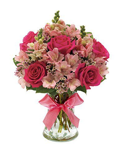 Mother's Day Flower Bouquet of Pink Rose & Peruvian Lily - http://flowersnhoney.com/mothers-day-flower-bouquet-of-pink-rose-peruvian-lily/