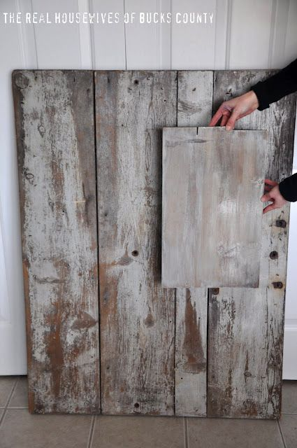 creating faux barnwood - might be good for my end tables/coffee table