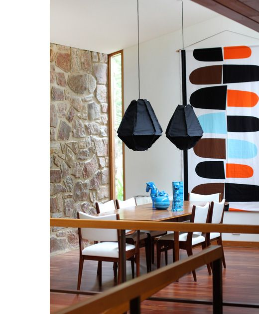 Marimekko Fabric Danish Modern Home In Australia (from U0027Design Files  Dailyu0027)   Interior Rock Wall