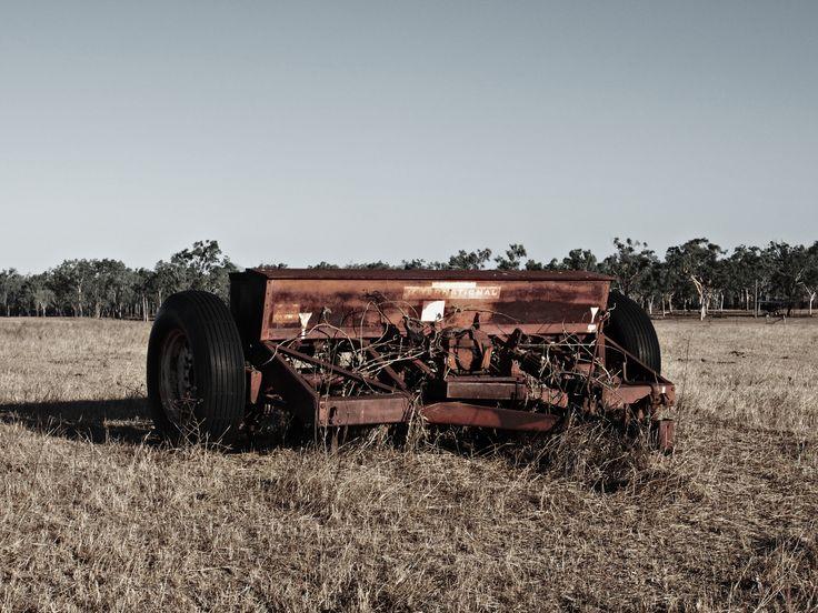 Farm machine in a paddick. Near Bowen, Australia
