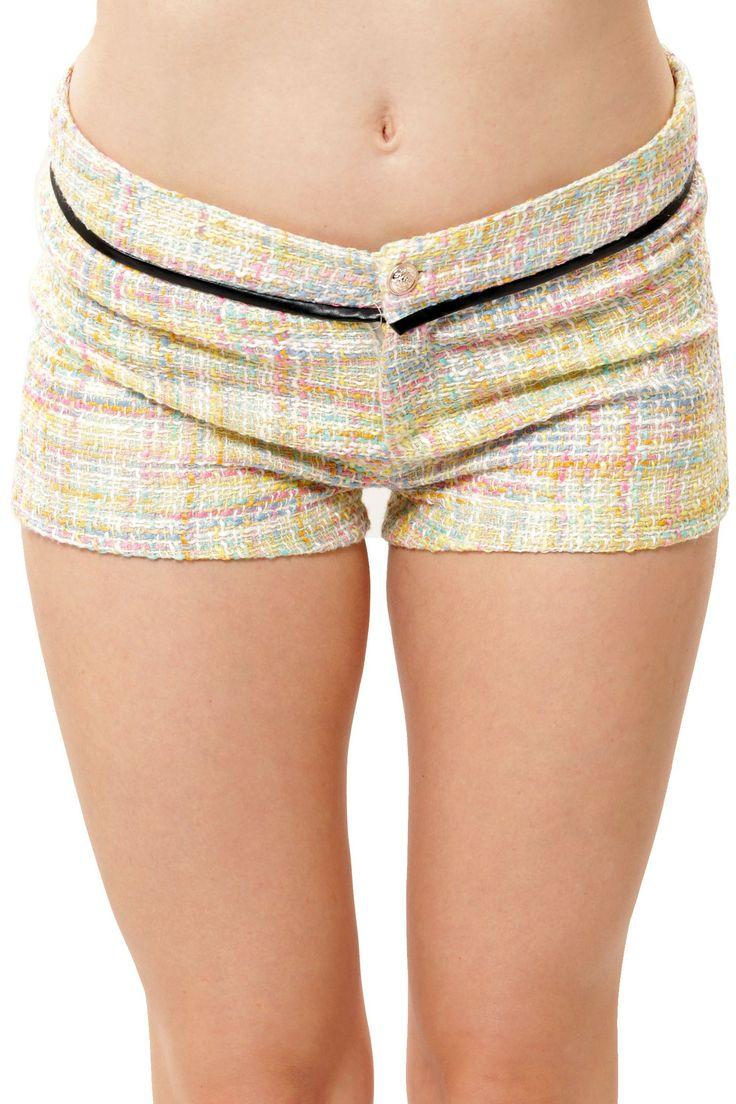 Weave It Shorts - Yellow