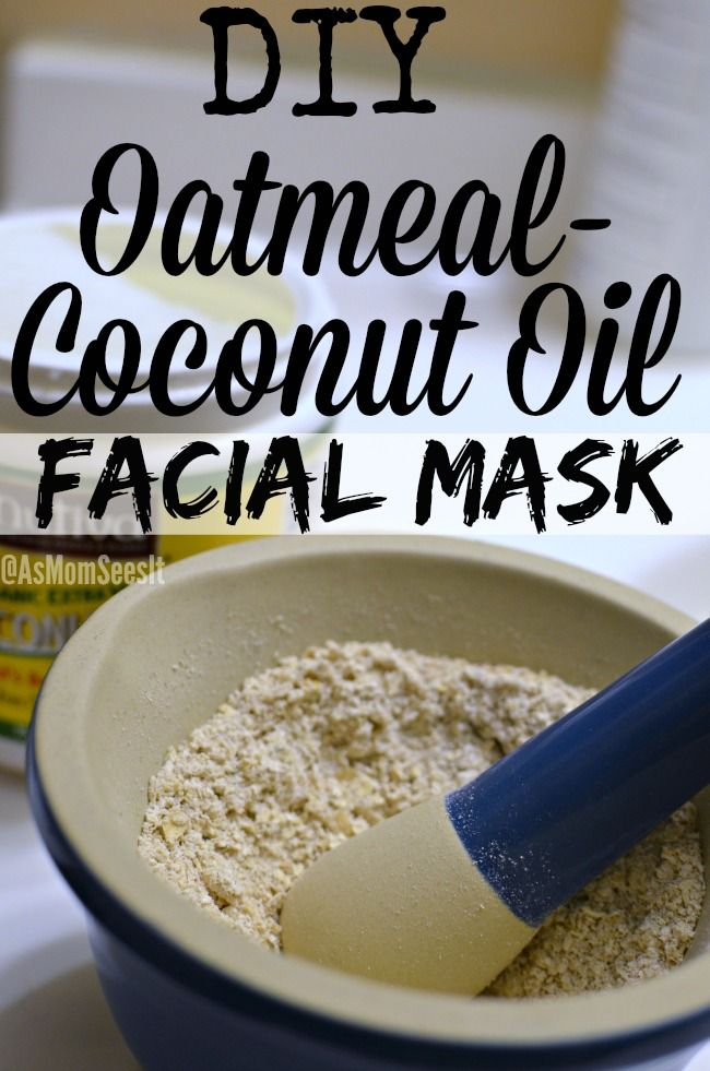 An easy DIY Oatmeal-Coconut Oil Facial Mask that will make your skin glow, is all natural, and helps prevent acne!