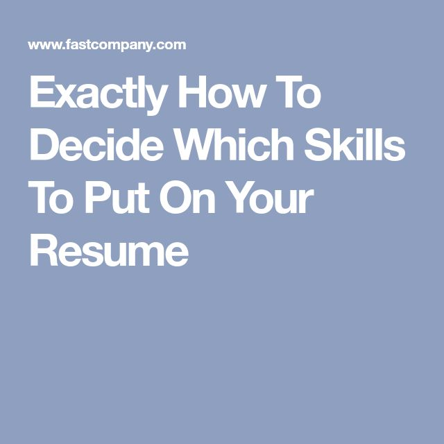 The 25+ best Skills on resume ideas on Pinterest Resume help - good things to put on a resume for skills
