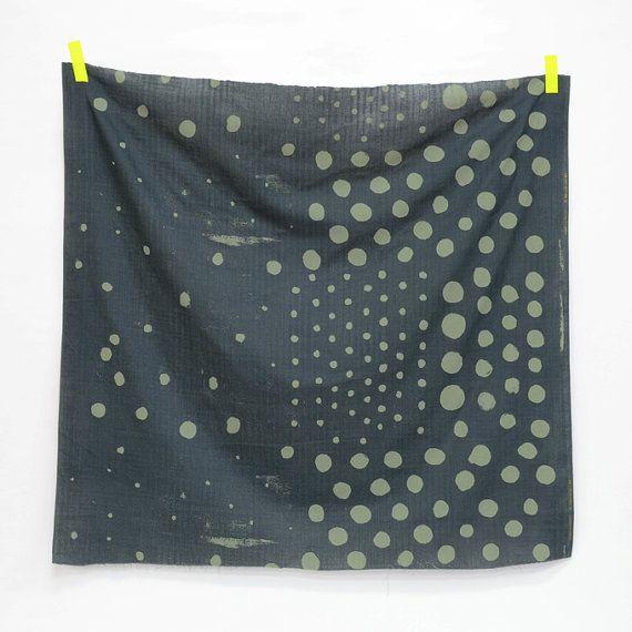 Nani Iro Woodblock POCHO Paysage  Japanese fabric by shimgraphica