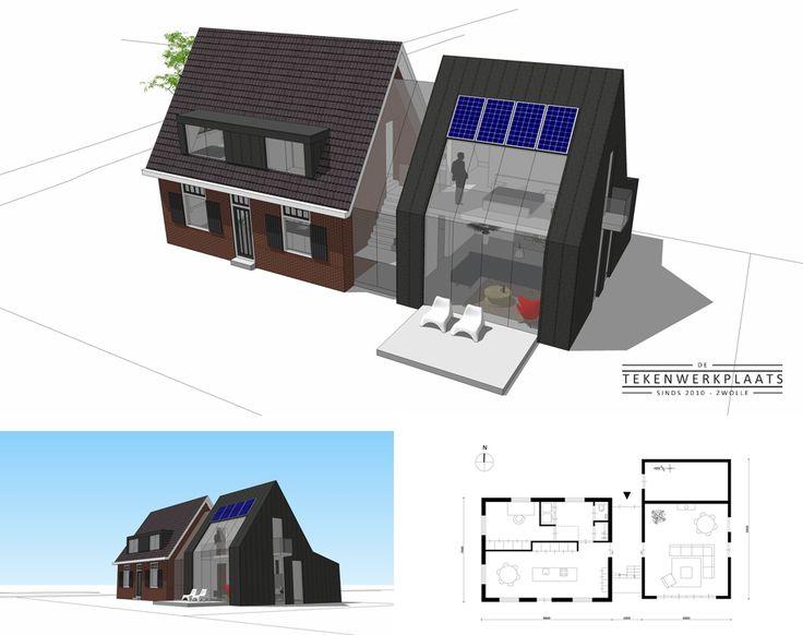 Te koop: Vrijstaande en landelijk gelegen woning uit de jaren '30 met moderne en duurzame uitbouw | Epe | Meer informatie? Neem contact op met De Tekenwerkplaats.