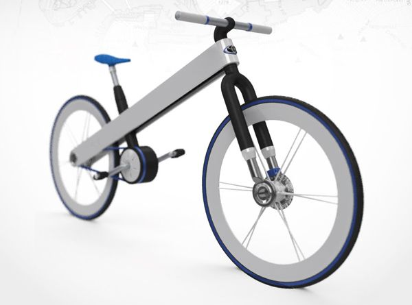 Toyota brand Hybrid Bike's small rechargeable motor is located in the crankset near the pedal and provides instantaneous assisted power on command using the handlebar throttle. Composed almost entirely of aluminum and bioplastic,